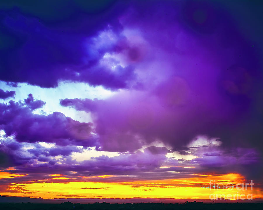 Storm at sunset by Charles Muhle