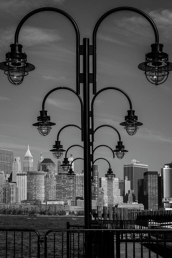 Streelights And NYC Skyline by Susan Candelario