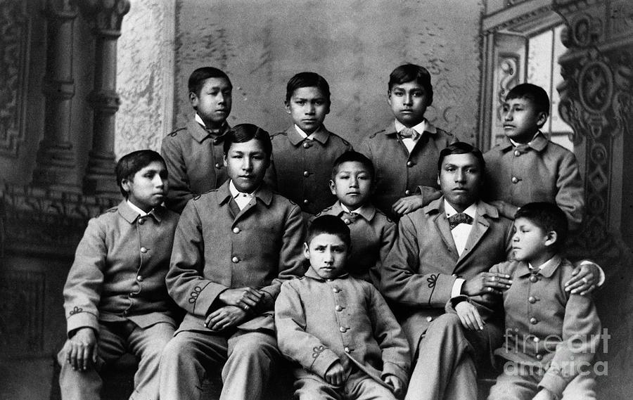 Students At Carlisle Indian School Photograph by Bettmann