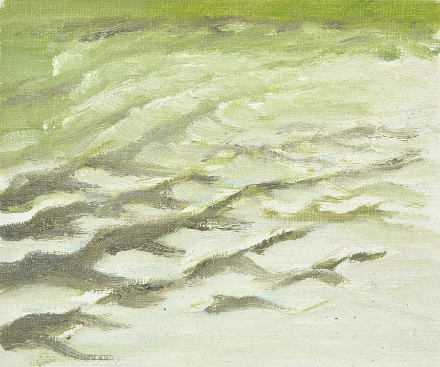 Studies of waves in Roslagen    Vattenstudie fraan Roslagen 1994_0075_clean_up to 65x75 on canvas by Marica Ohlsson
