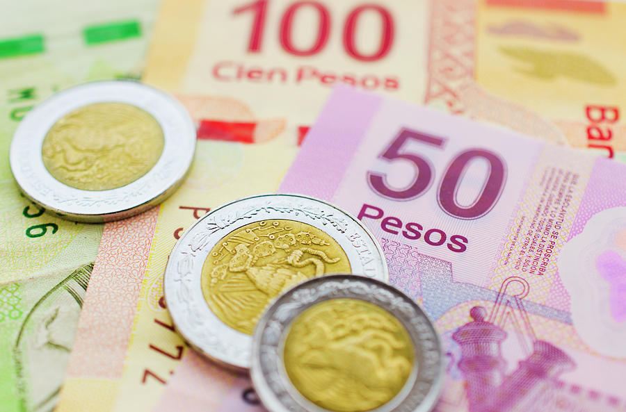 Studio Shot Of Mexican Currency Photograph by Tetra Images
