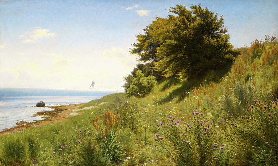 Landscape Painting - Summer Day At The Sea by Mountain Dreams