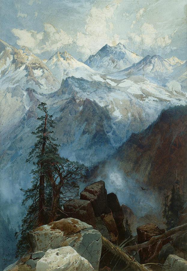 Thomas Moran Painting - Summit Of The Sierras by Thomas Moran
