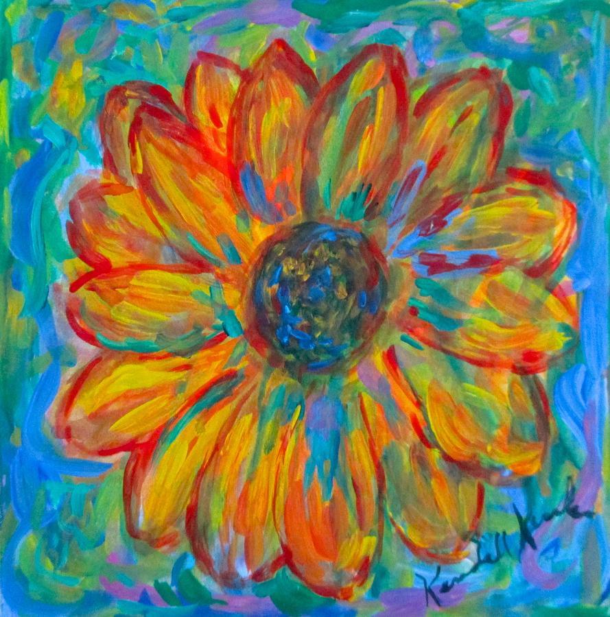 Bursting Sunflower by Kendall Kessler