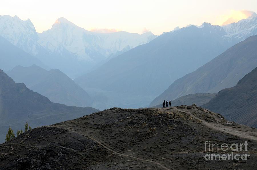 Sunrise among the Karakoram mountains in Hunza Valley Pakistan by Imran Ahmed