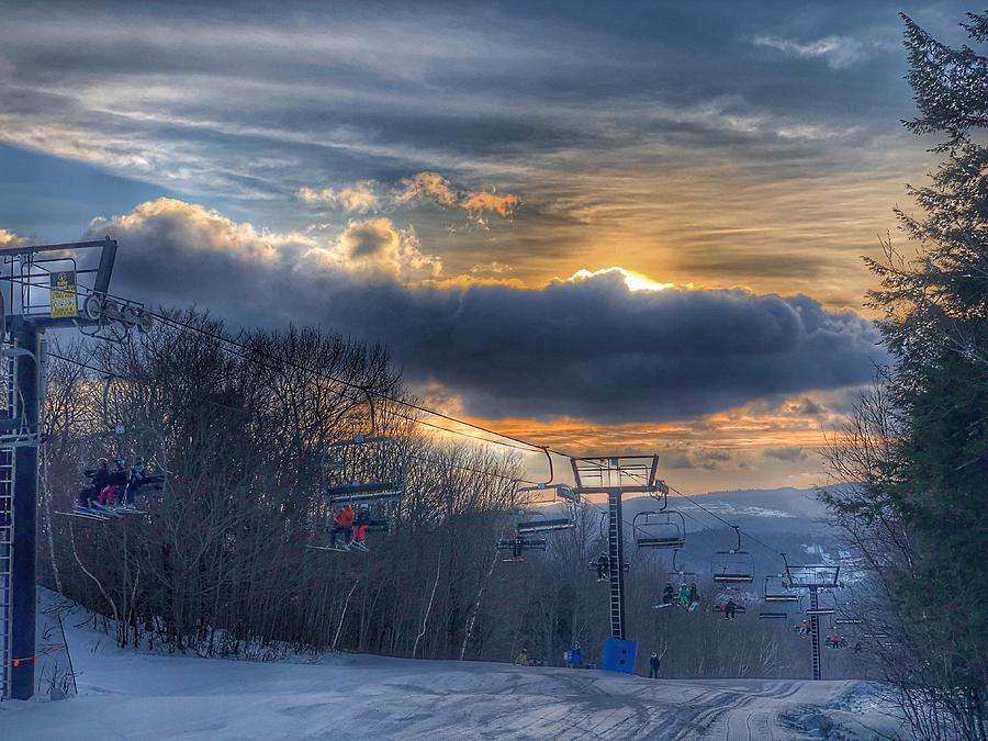 Sunrise at Okemo Mountain by Pat Moore