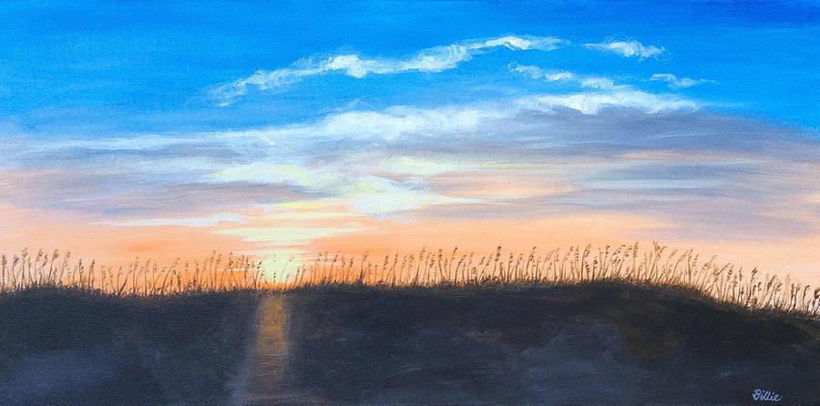 Obx Painting - Sunrise Through Sea Oats by Billie Mann