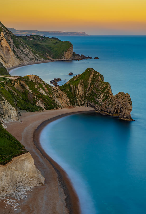 Sunset At Durdle Door In England Photograph
