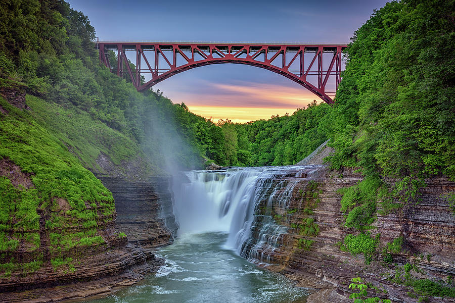 Sunset at the Upper Falls by Rick Berk