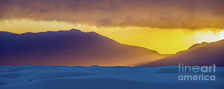 White Sands Photograph - Sunset At White Sands 1 by Stephen Whalen