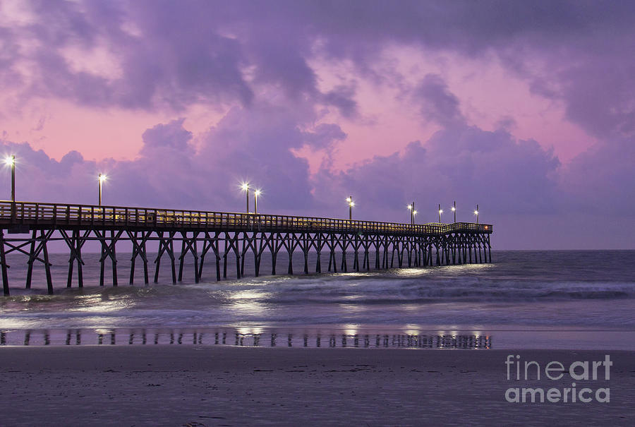 Sunset Beach Pier by Michelle Tinger