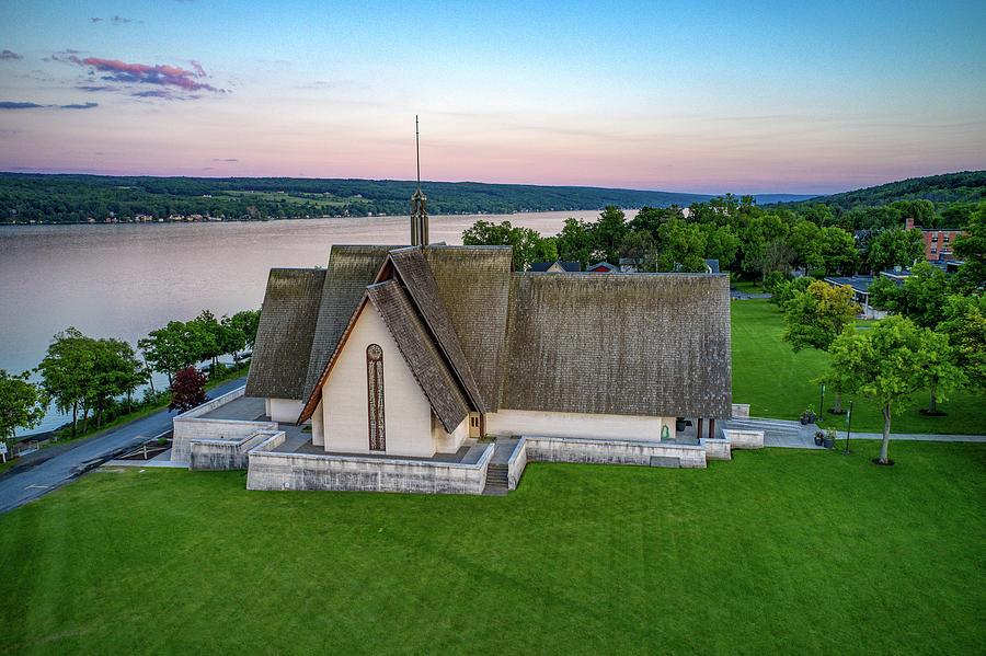 Sunset Horizon Norton Chapel by Ants Drone Photography