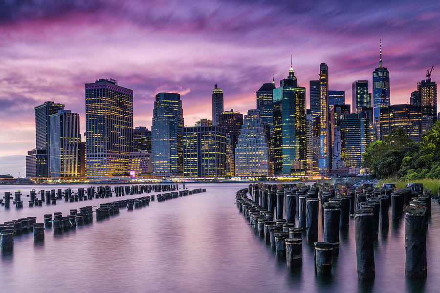 Sunset in Mauve by Fran Gallogly