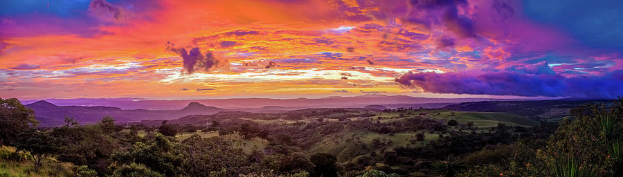Sunset In Santa Rosa In Costa Rica Photograph
