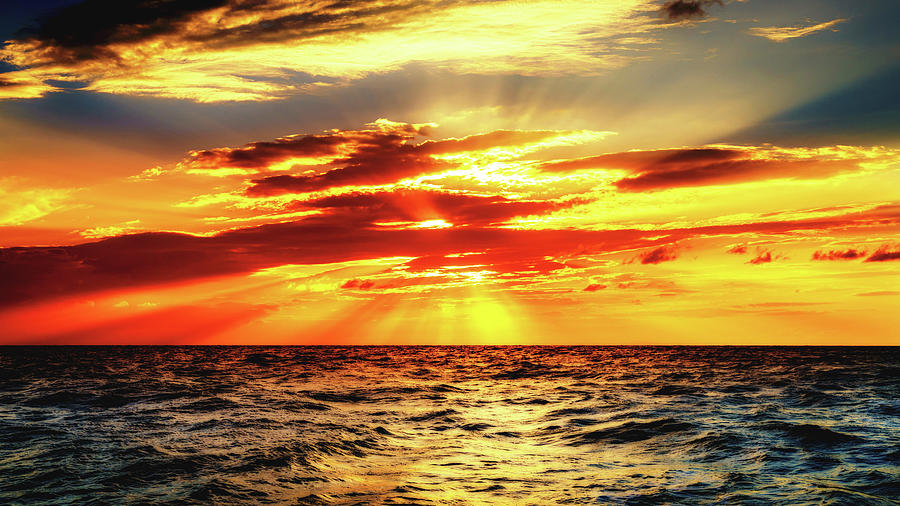 Sunset In The Tyrrhenian Sea Photograph