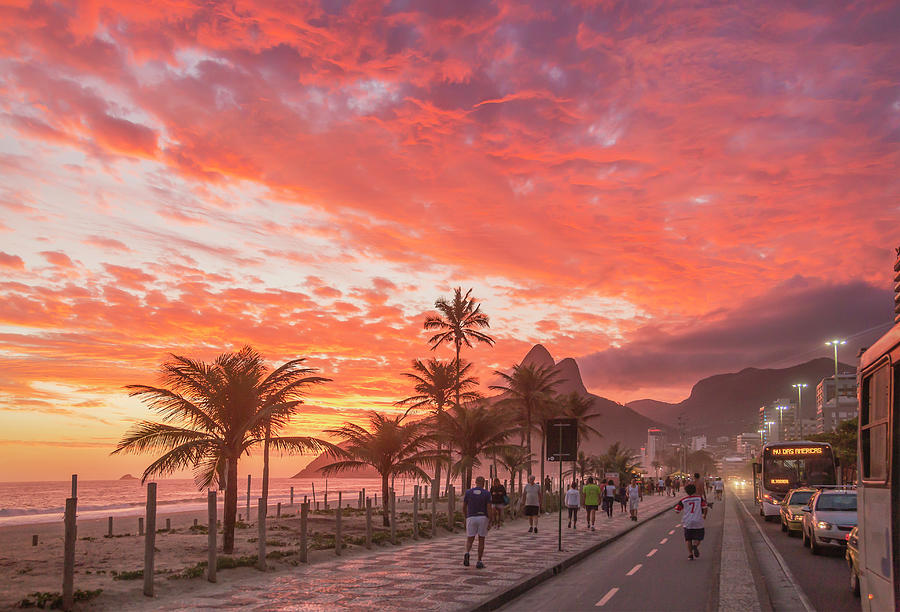 Sunset Over Ipanema Beach Photograph by Buena Vista Images