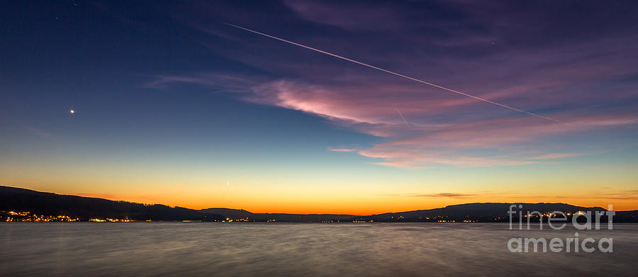 Sunset over Lake Constance by Bernd Laeschke