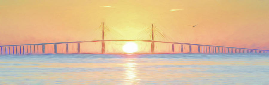 Sunshine Skyway Bridge Sunrise by Steven Sparks