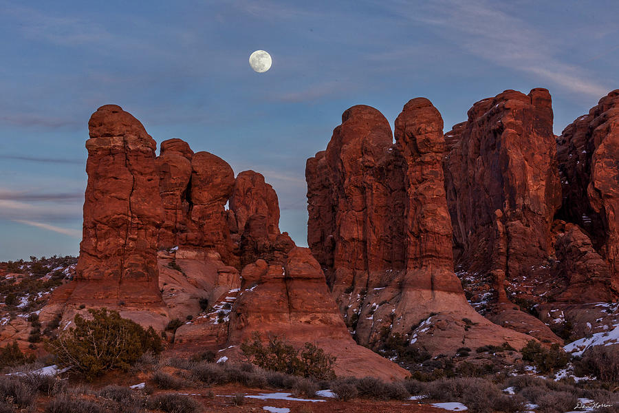 Super Moonrise at Garden Of Eden by Dan Norris