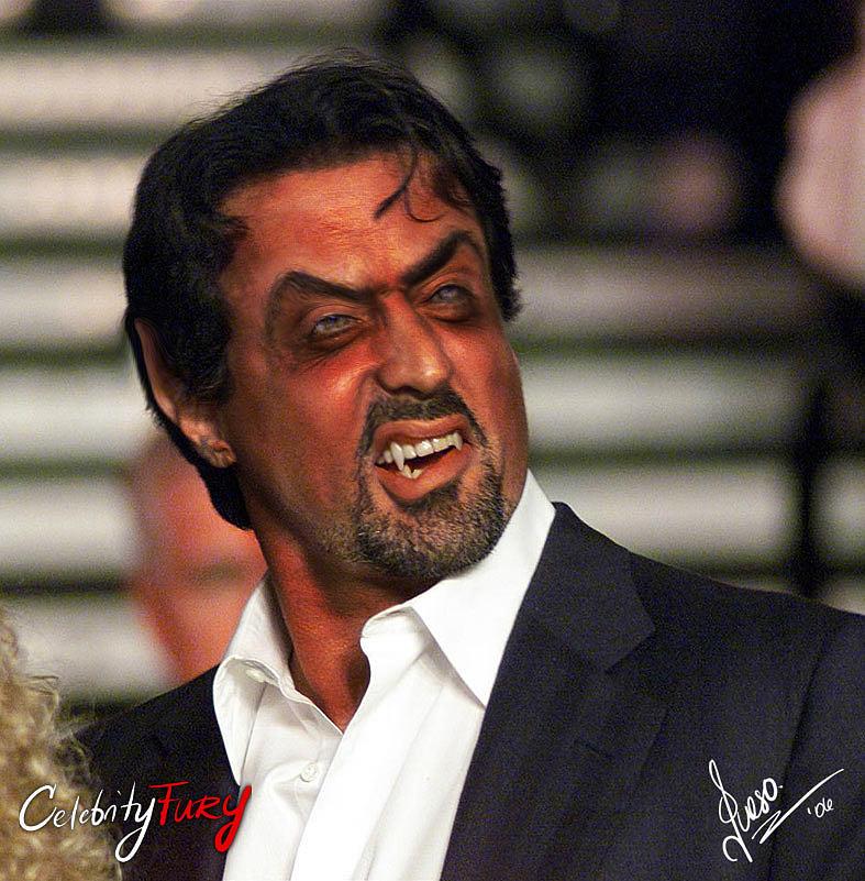 Sylvester Stallone Digital Art - Sylvester Stallone by Queso Espinosa