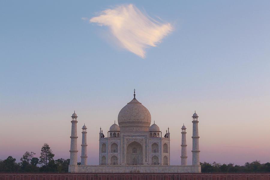 Taj Mahal At Sunset by Maria Heyens