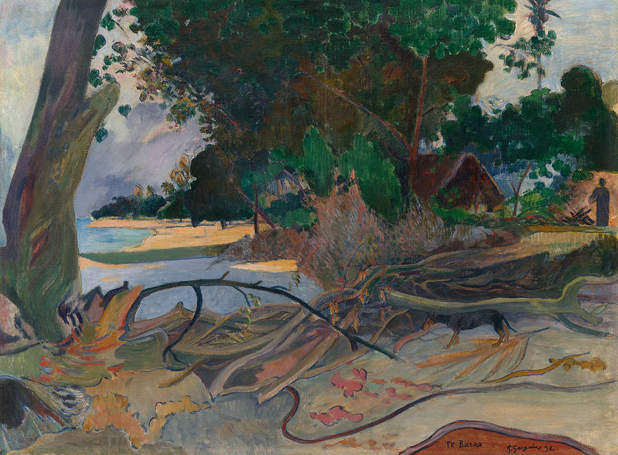 Te burao - The Hibiscus Tree by Paul Gauguin