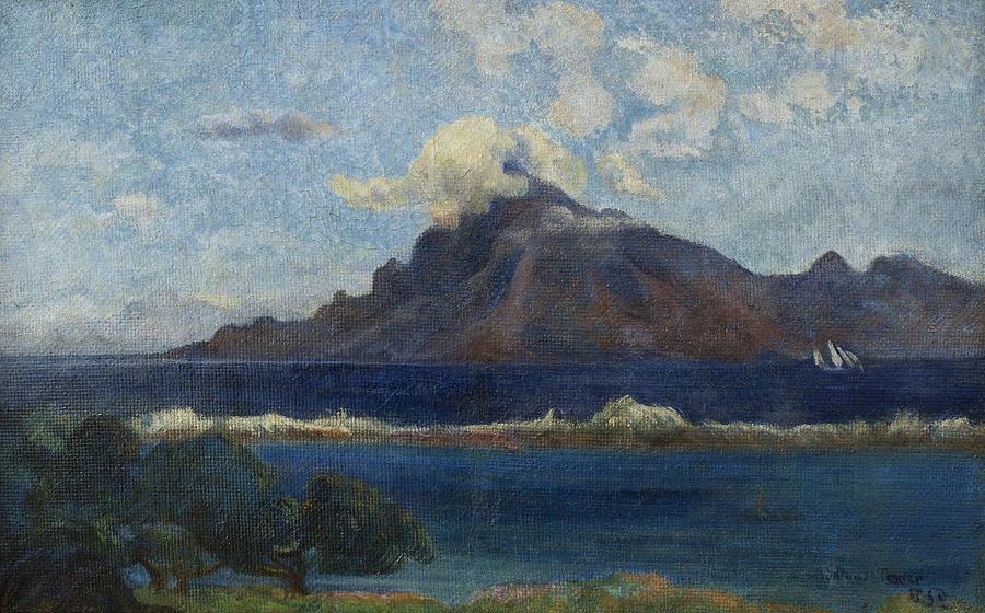 Te Vaa, the Canoe, A Tahitian Family, by Paul Gauguin