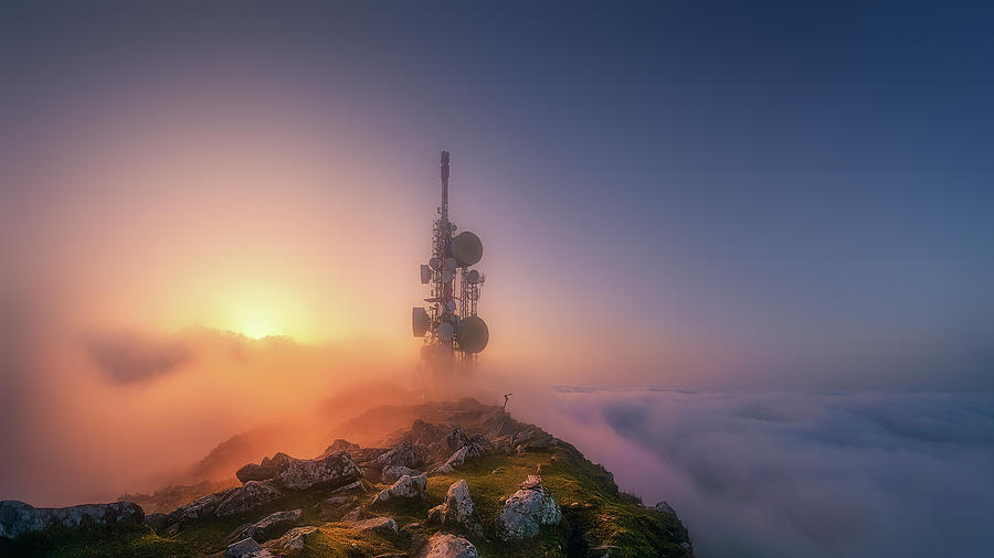 telecommunications tower on Oiz mountain by Mikel Martinez de Osaba