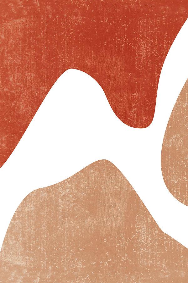Terracotta Art Print 7 - Terracotta Abstract - Modern, Minimal, Contemporary Print - Burnt Orange Mixed Media