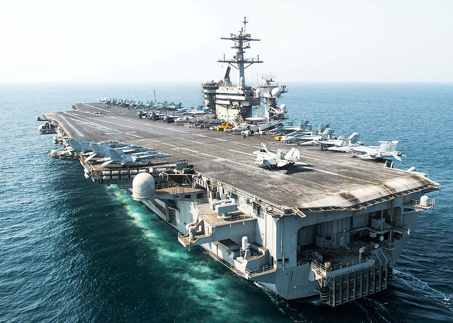 The Aircraft Carrier Uss Theodore by Stocktrek Images