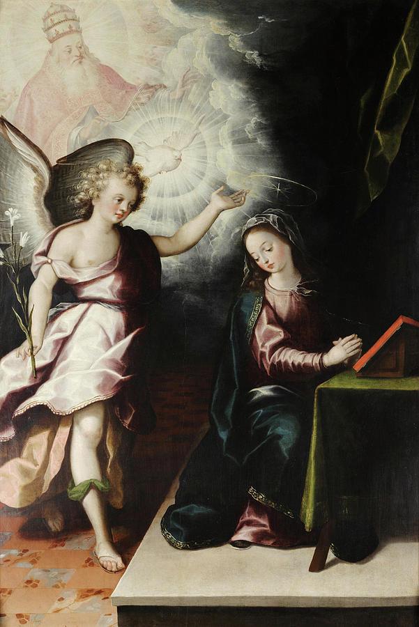 Juarez Painting - The Annunciation by Luis Juarez