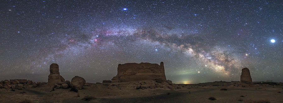 The Arc Of The Milky Way From Dafang by Jeff Dai