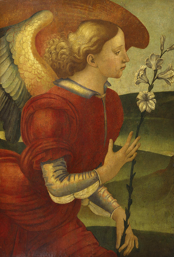 Italian Painters Painting - The Archangel Gabriel by Luca Signorelli