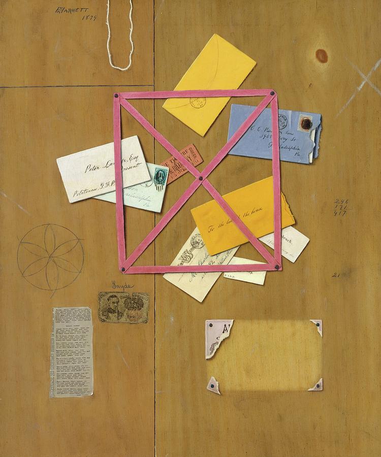 The Artist's Letter Rack by William Michael Harnett