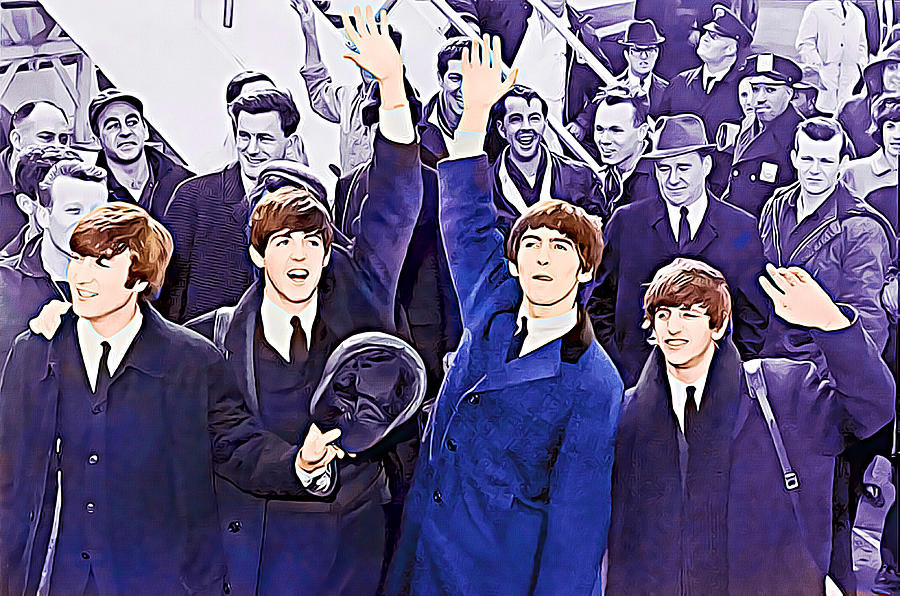 Abstract Photograph - The Beatles 1964 Arrival In New York  by Robert Kinser