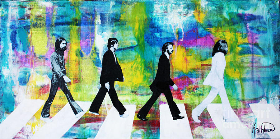 The Beatles Group Abbey Road Painting