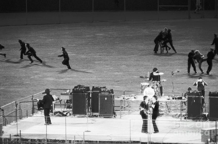 The Beatles In Concert Photograph by Bettmann