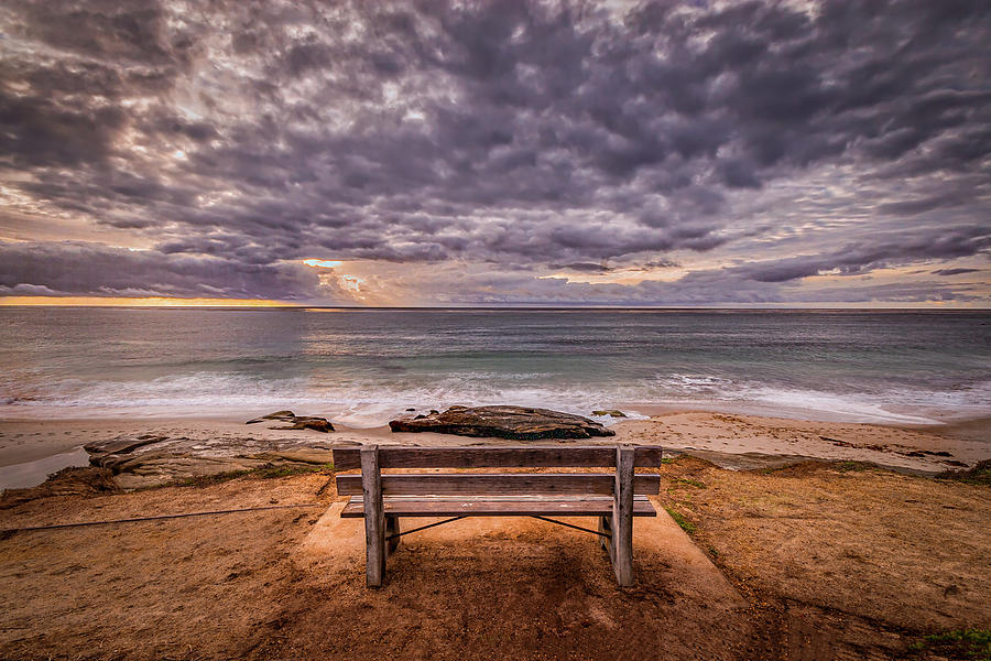 California Photograph - The Bench 2019 Edit by Peter Tellone