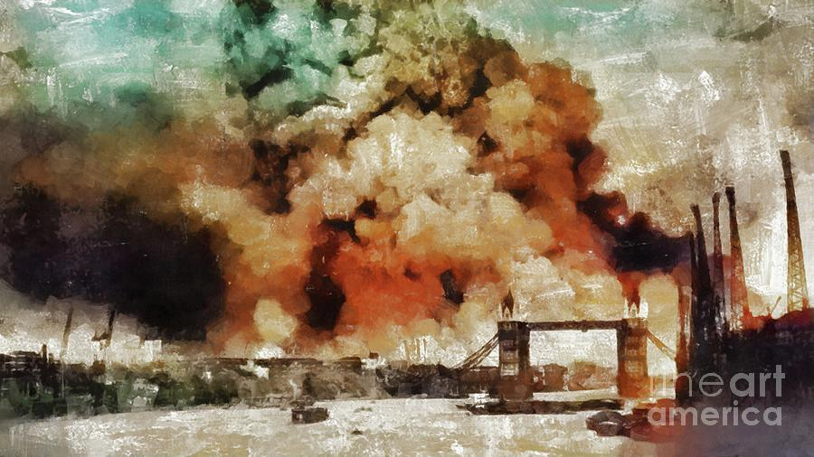World Painting - The Blitz, Wwii by Mary Bassett