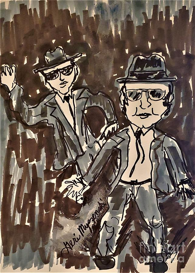 The Blues Brothers Mixed Media