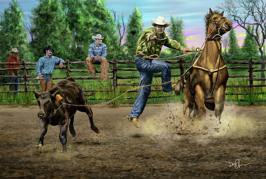The Calf Roper by Don Olea