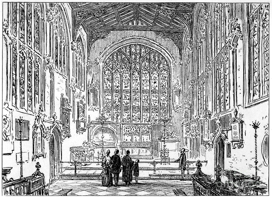 The Chancel Of Stratford Church Drawing by Print Collector