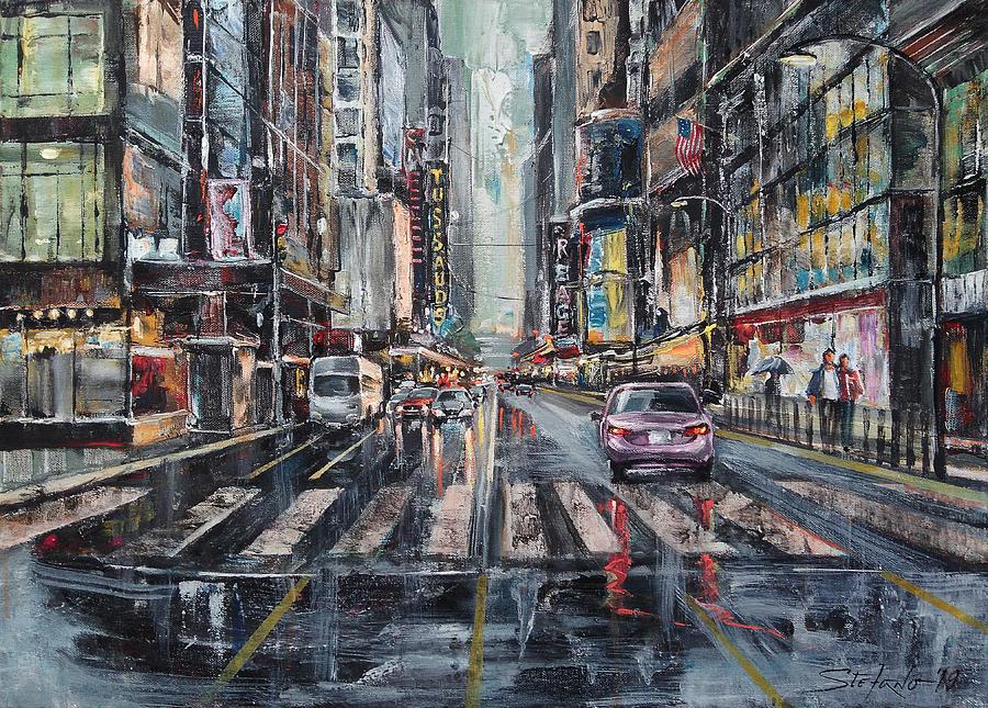 Rain Painting - The City Rhythm by Stefano Popovski