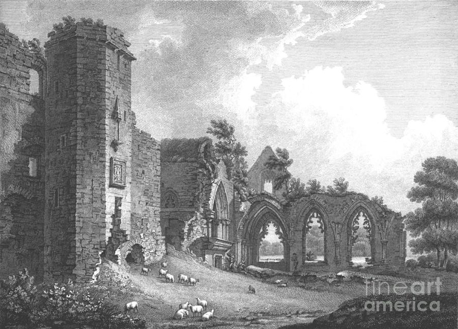 The College Of Lincluden Drawing by Print Collector
