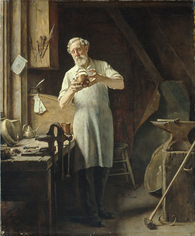 Edgar Painting - The Coppersmith  by Edgar Melville Ward