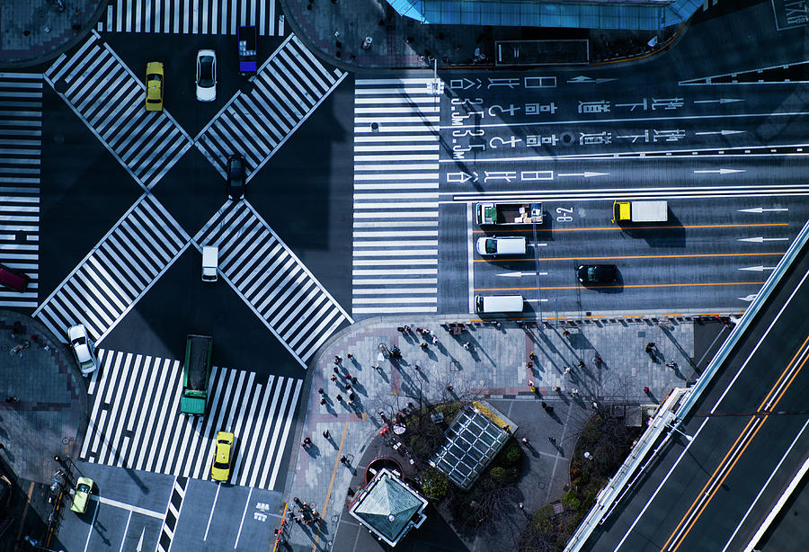 The Crossing Way Of Ginza In Tokyo Japan Photograph by Michael H
