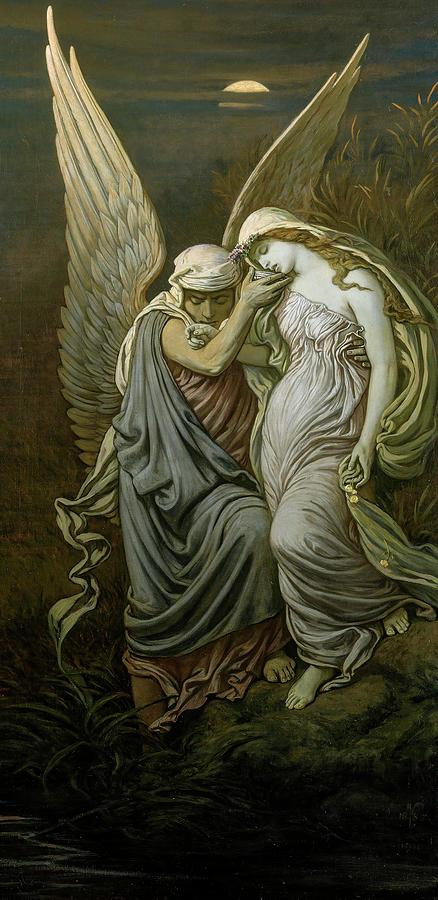 Elihu Vedder Painting - The Cup Of Death, 1911 by Elihu Vedder