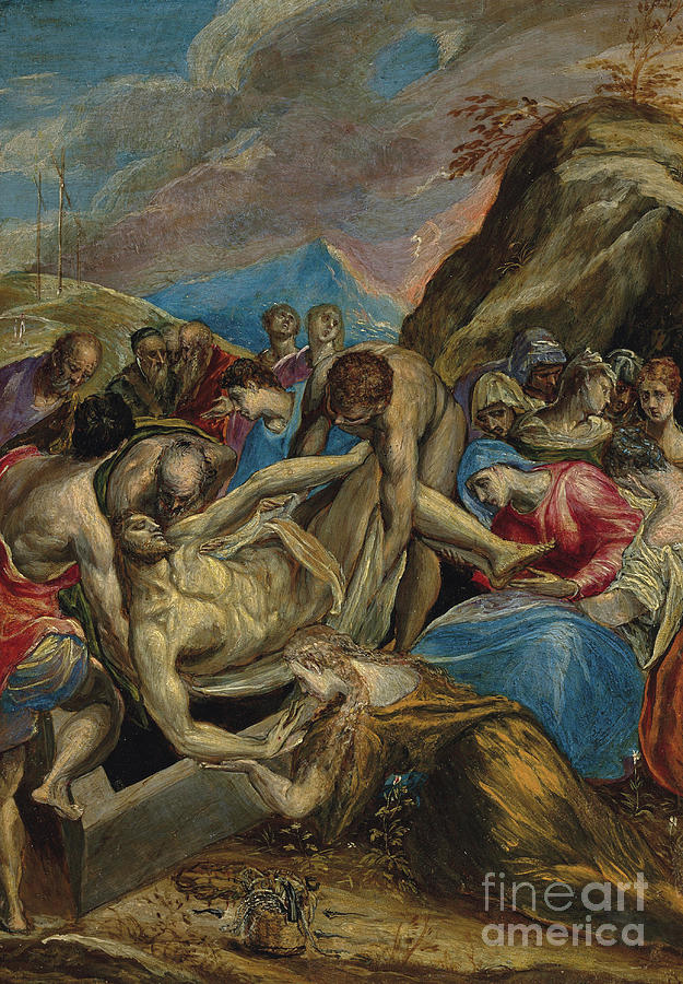 El Greco Painting - The Entombment Of Christ  by El Greco