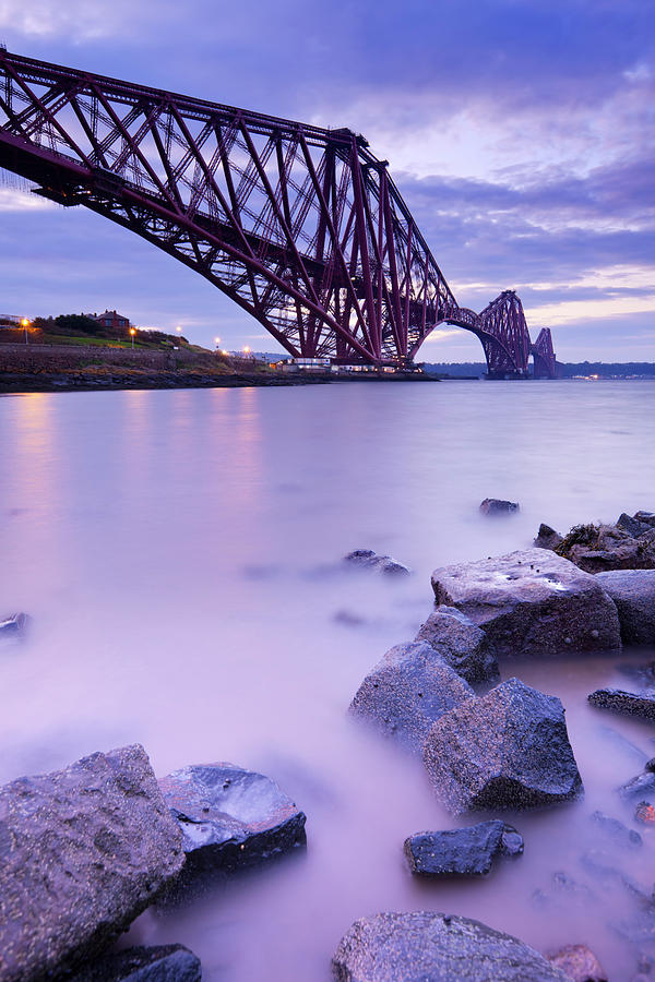 The Forth Rail Bridge Near Edinburgh Photograph by Sara winter