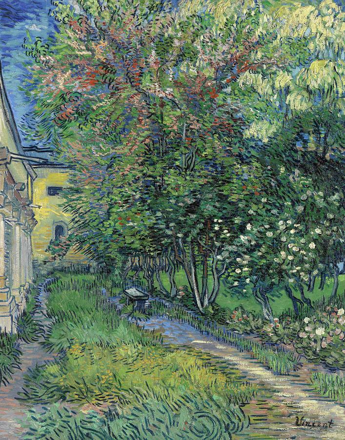 Asylum Painting - The Garden Of The Asylum At Saint-remy by Vincent Van Gogh